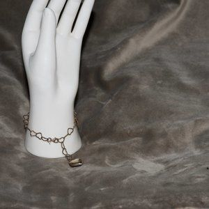Jewelry - Gold Heart Boutique Bracelet with Heart Medallion